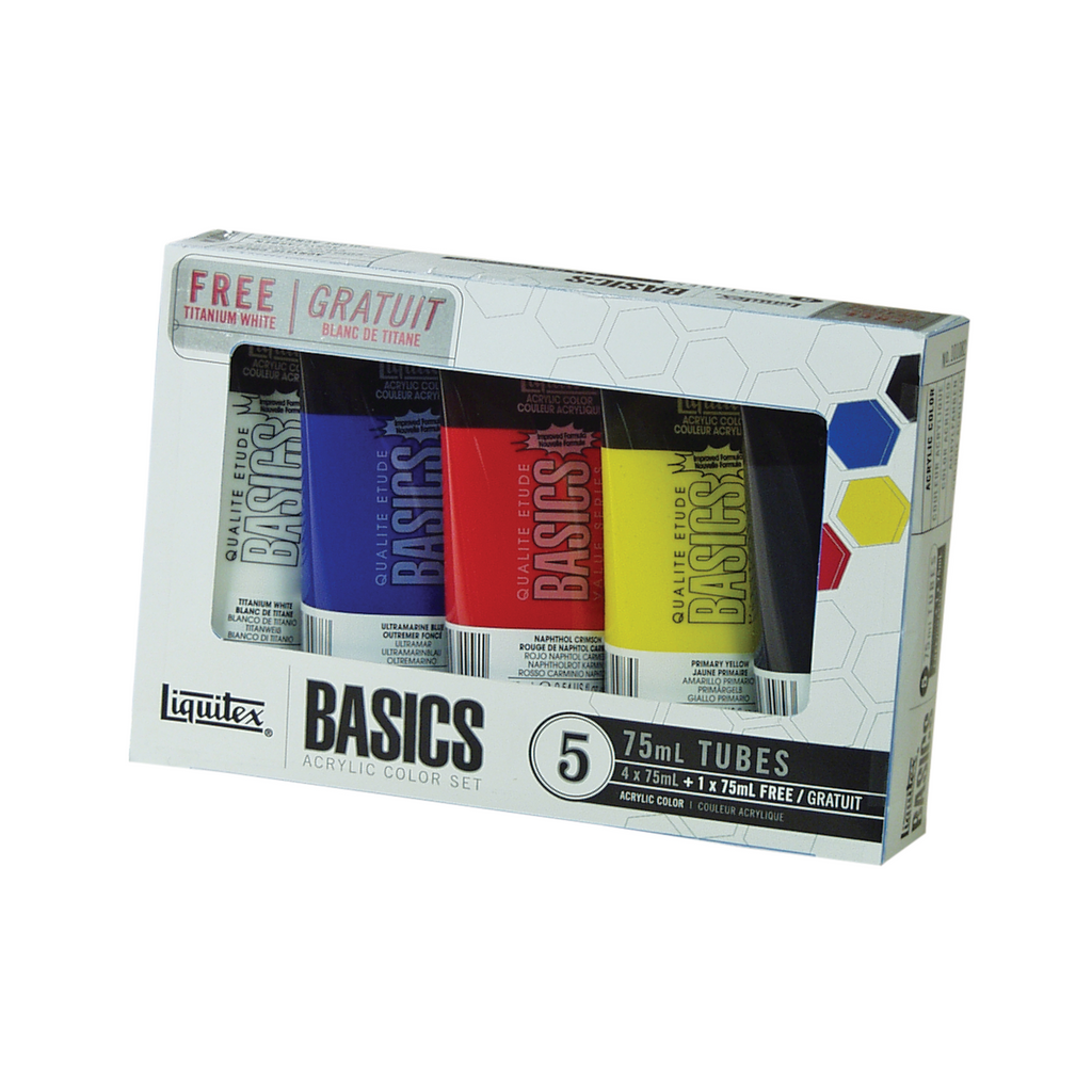 Basics Acrylic Color 75ml Tube Set