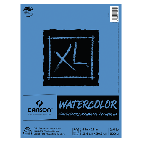 Canson XL Watercolor Paper Pads