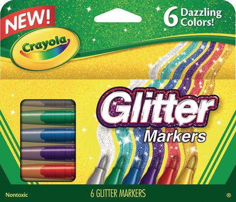 Crayola Glitter Markers 6-Color Set