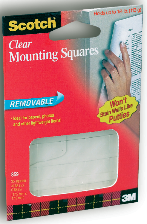 Scotch Clear Removable Mouting Squares
