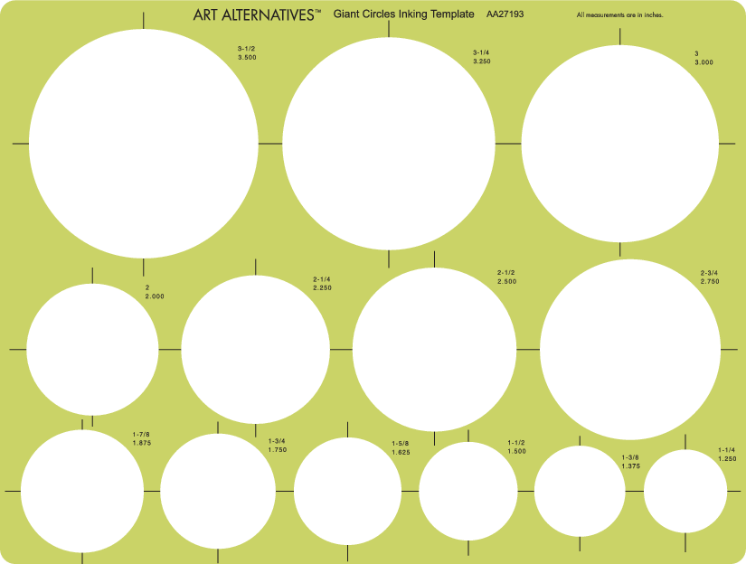 Professional Giant Circles Template