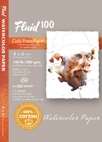 Fluid 100 Watercolor Blocks - 140lb Cold Press