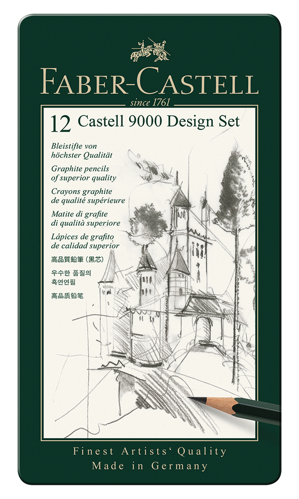 Faber Castell 9000 Graphite Tin Sets