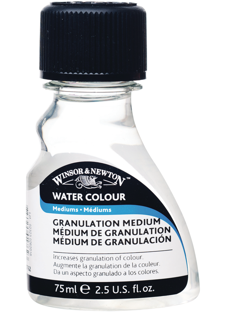 This medium gives colors a granular appearance and is useful in all watercolor techniques.