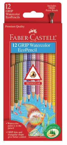 Faber Castell Grip Watercolor EcoPencil sets