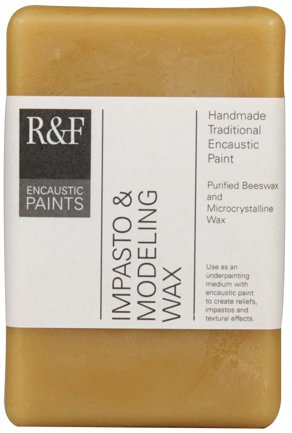 This impasto and modeling wax is a blend of microcrystalline waxes and beeswax. Designed for sculptural purposes, the wax can be cast, carved and layered to create a textural surface.