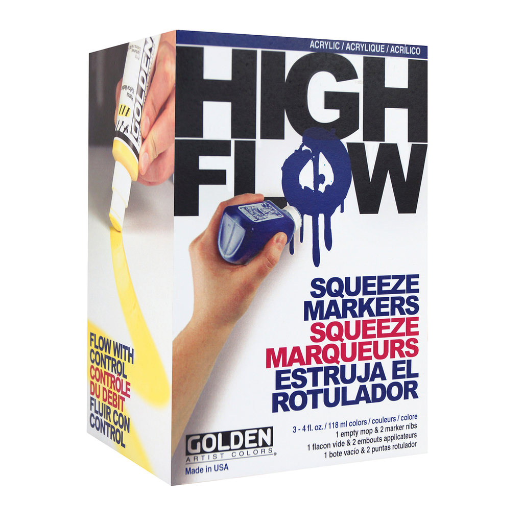 Golden High Flow Squeeze Marker Set