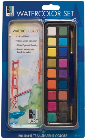 Art Alternatives Watercolor Art Tin Set