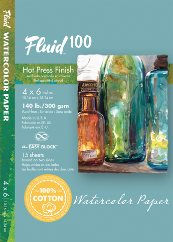 Fluid 100 Watercolor Blocks - 140lb Hot Press