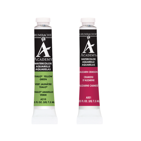Grumbacher Academy Watercolors - 7.5ml Tubes