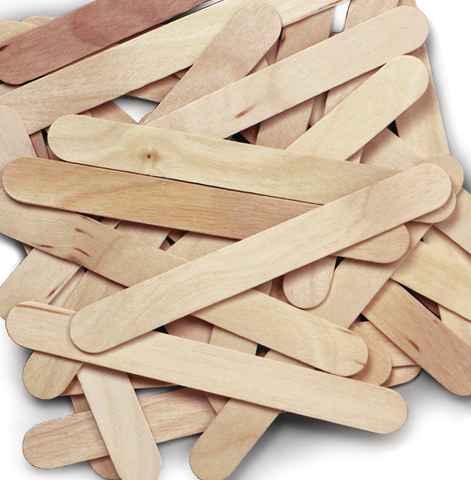 Jumbo Wooden Craft Sticks