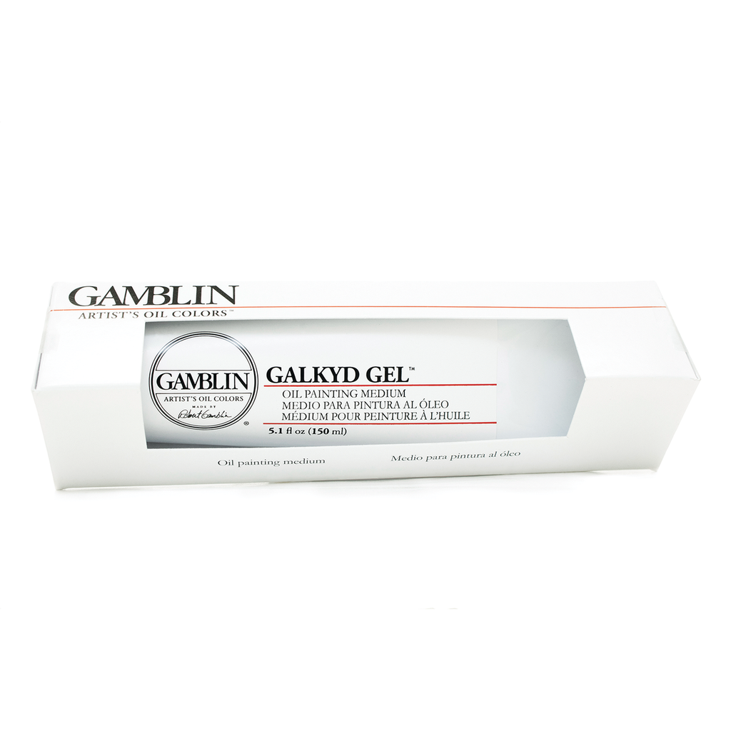 Galkyd Gel is a stiffer gel compared to Neo Megilp that holds thicker, sharper brush marks and dries more quickly.