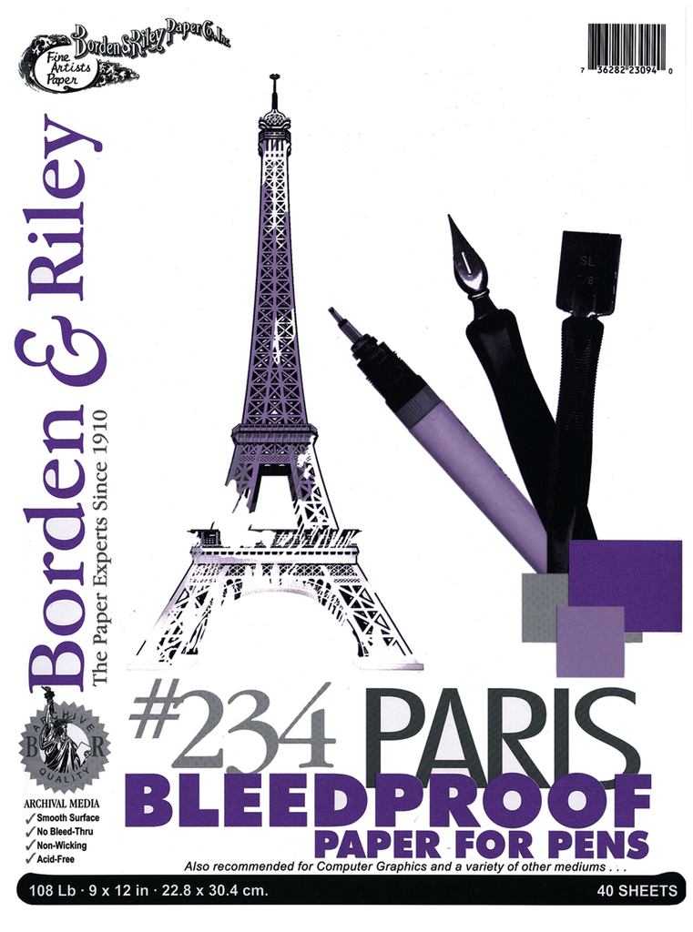 Bordon & Riley #234 Paris Bleedproof Paper for Pens