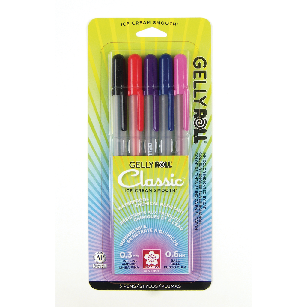 Gelly Roll Classic Fine Point 5 Pen Set