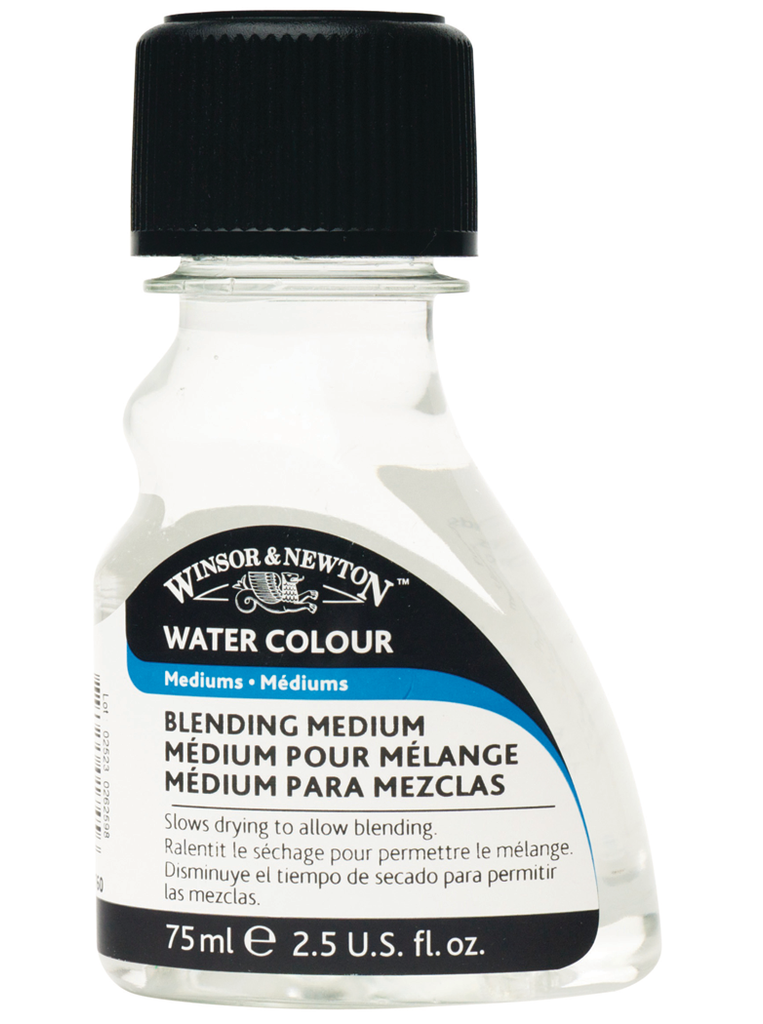 Blending Medium slows the drying rate of watercolors to allow more time for color blending.