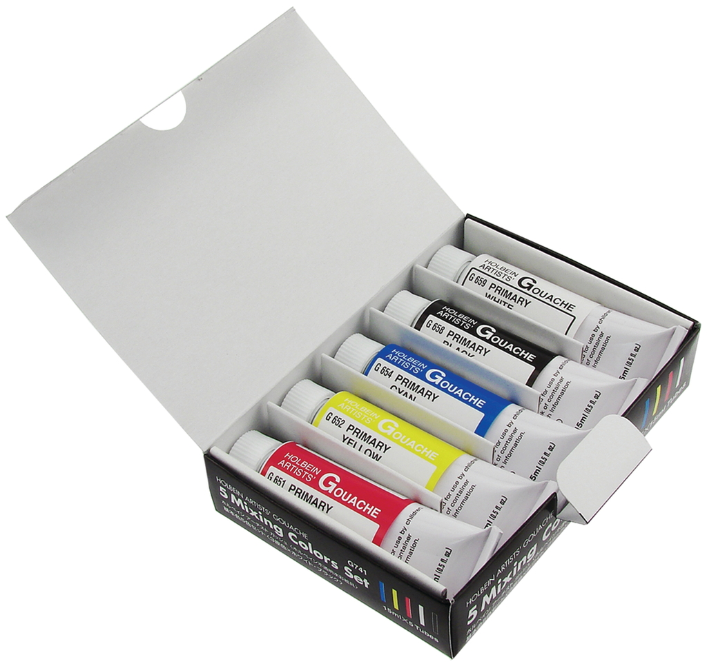 5 Colors Gouache Mixing Set