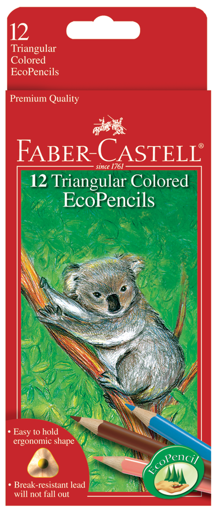 Faber Castell Triangular Colored EcoPencil Sets