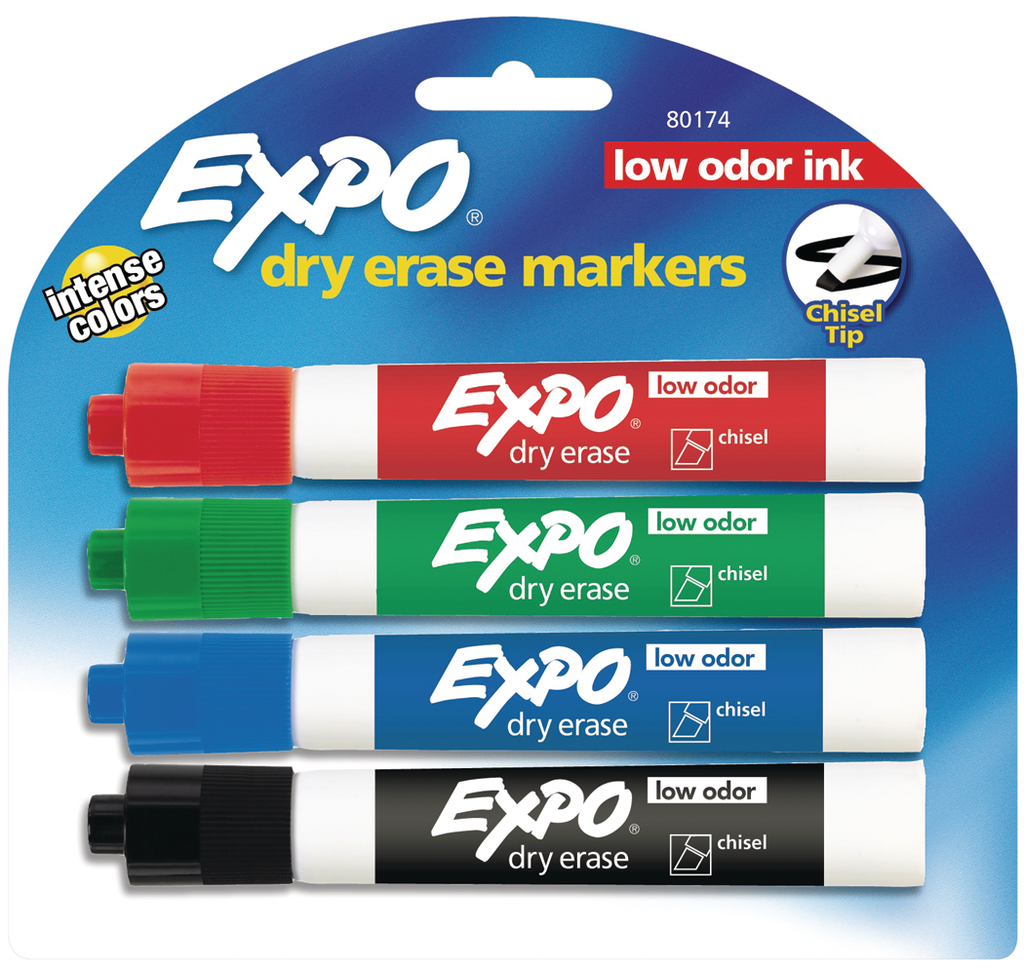 EXPO Dry Erase Pen Primary Sets