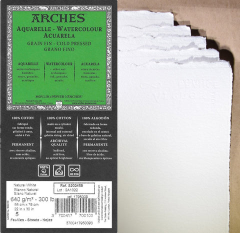 Arches 300lb Cold Press Watercolor Paper