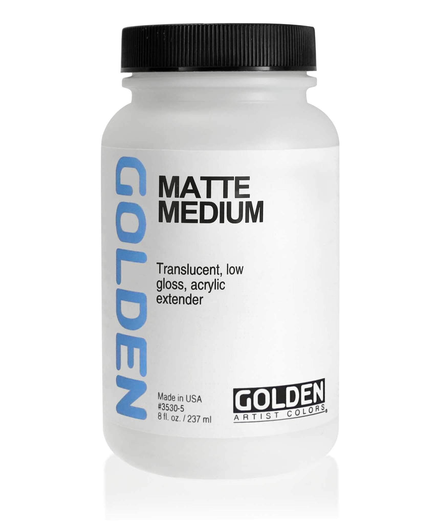 Translucent, low-gloss, acrylic extender gives a matte transparency when mixed with colors.