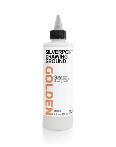 Golden Silverpoint Drawing Fluid - 8oz Bottle