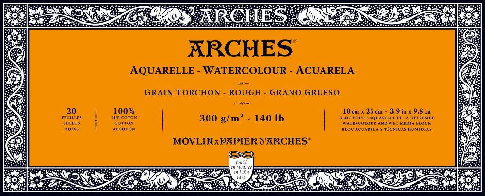 Arches 140lb Rough Press Watercolor Blocks