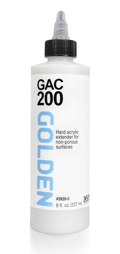 A liquid acrylic polymer emulsion that is the hardest and least flexible of GOLDEN acrylics.