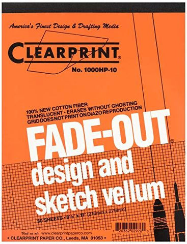 Clearprint Fade Out Gridded Vellum Pads