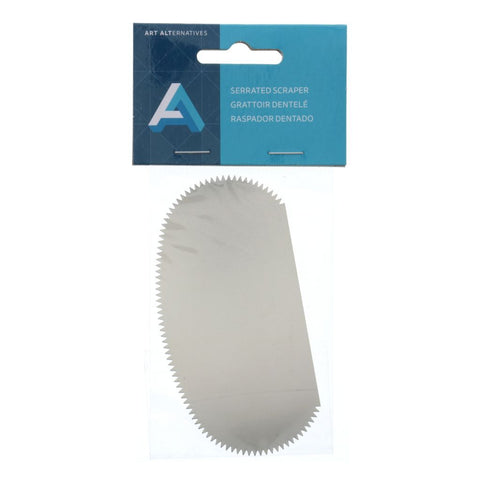 Art Alternatives Stainless Steel Serrated Scraper