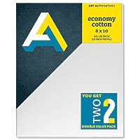 Art Alternatives Economy Cotton Stretched Canvas Twinpacks