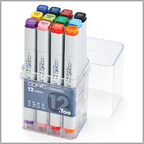 Copic Classic 12 Color Basic Set