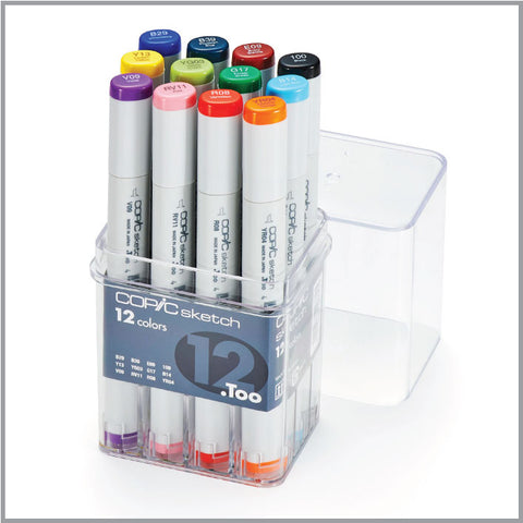 Copic Sketch 12 Color Basic Set
