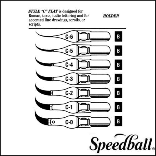 Speedball C-Series Steel Pen Nibs