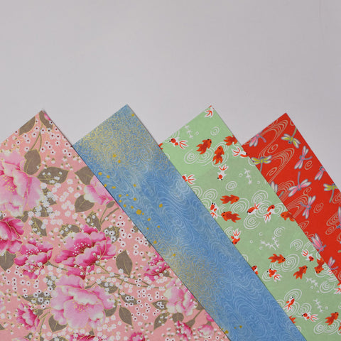Japanese Silk Screened Papers