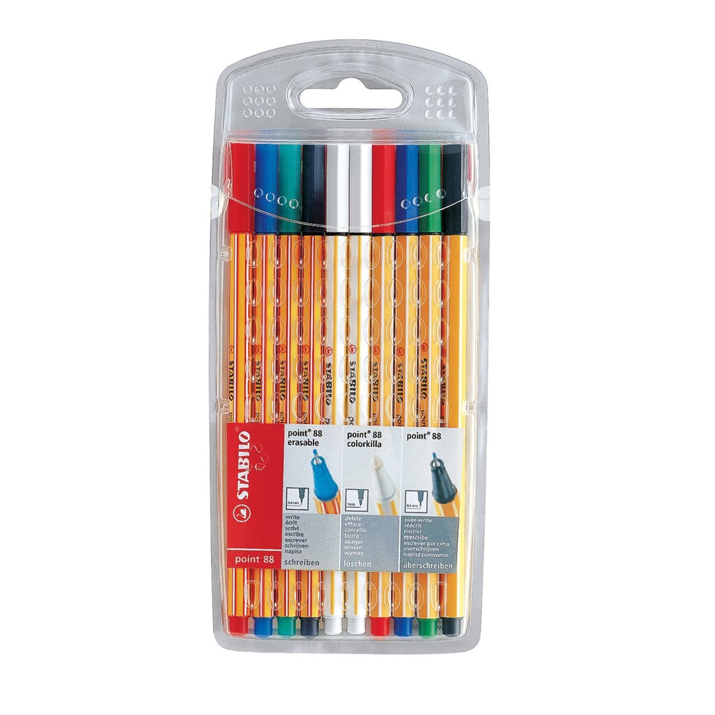 Stabilo Point 88 Erasable Set w/Colorkilla