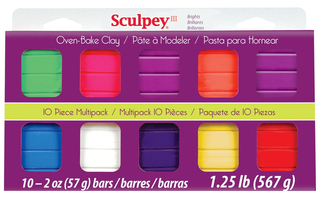 Sculpey III 10 Color Bright Set