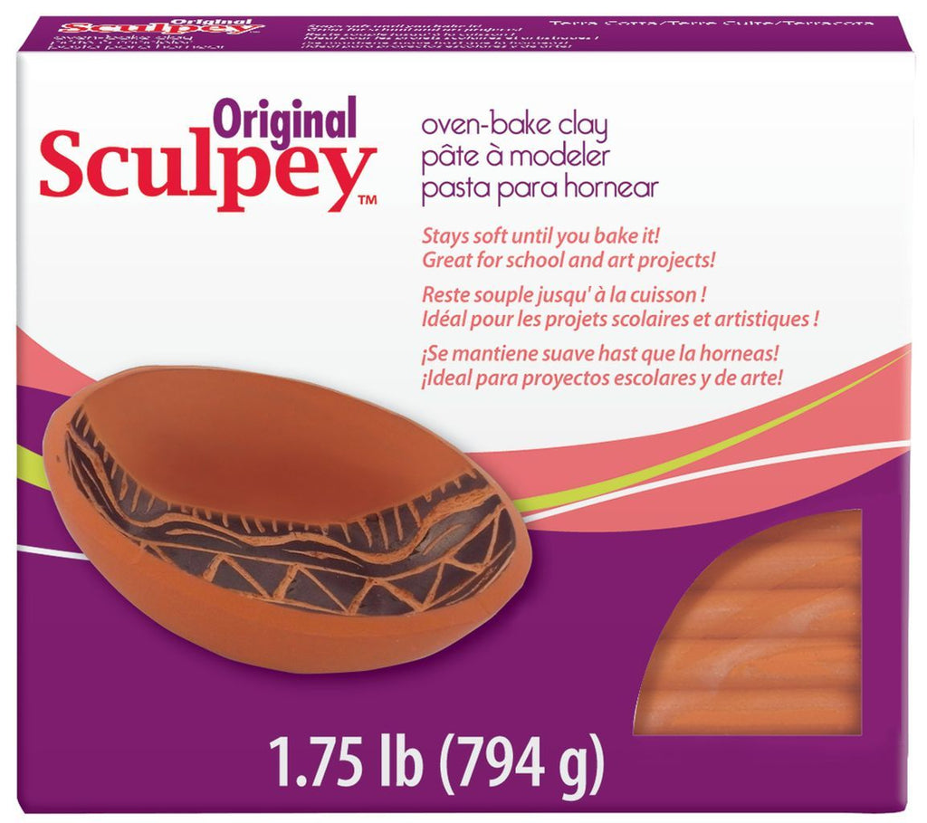 Original Sculpey Terra-Cotta 1.75lb