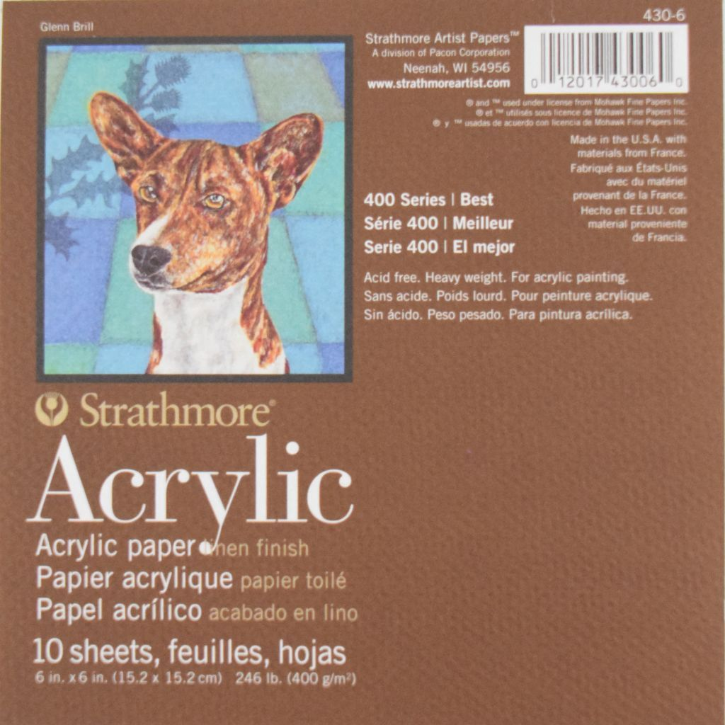 Acrylic Paper Canvas Pads - Linen Finish