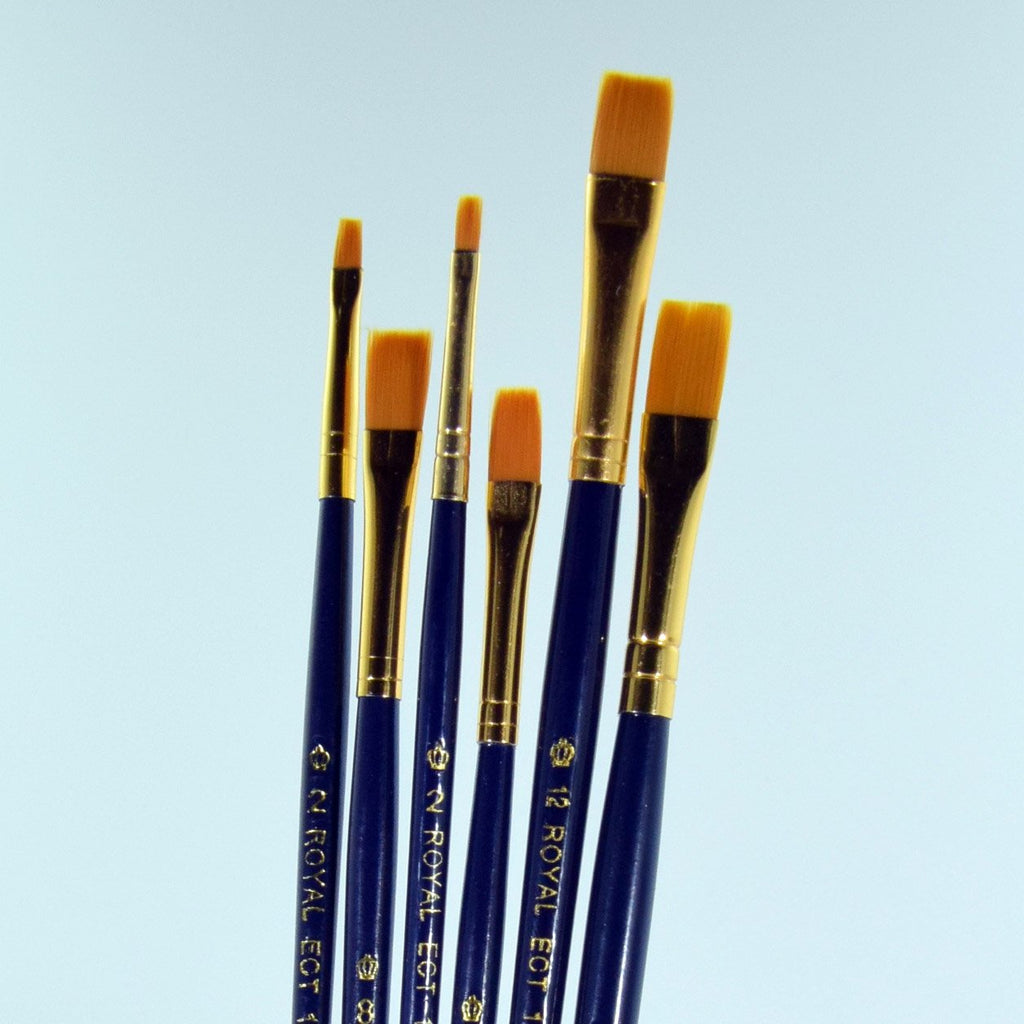 School Grade Golden Taklon Shader Brushes