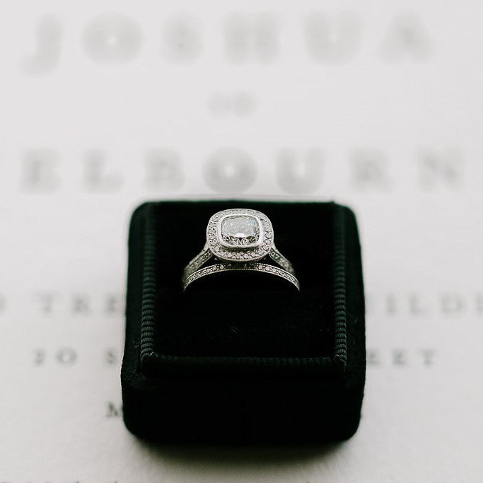 Cushion Diamond Halo Ring | Bespoke