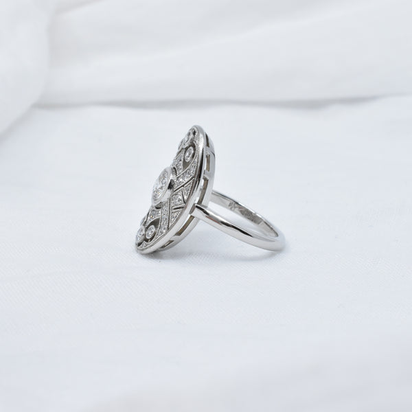 Art Deco Style Diamond Ring | Bespoke