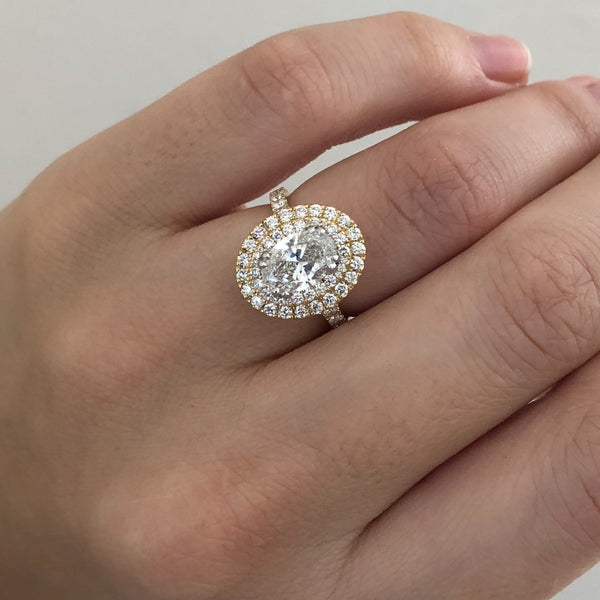 Oval Double Halo Ring | Bespoke
