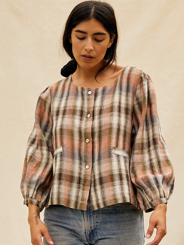 The Daisy Top | PlaidTops - sugarcandymtn.com
