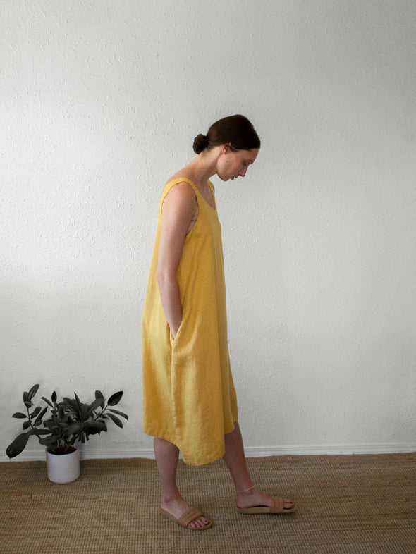The Courtney Dress | Mustard