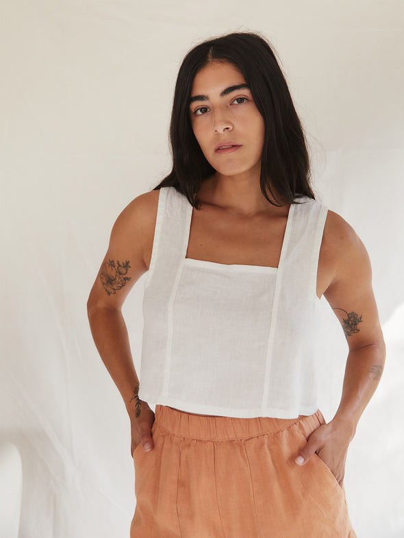 The Pansy Top | Ivory