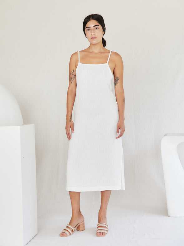 The Shell Slip Dress | Ivory