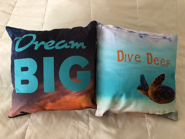 Dream Big-Dive Deep Pillow