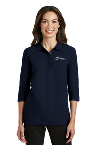 Womens Polo 3/4 Sleeve