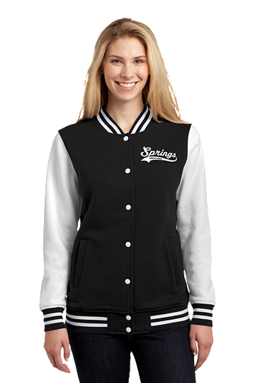 Womens Fleece Letterman Jacket