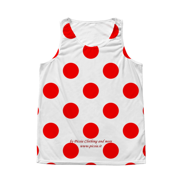 Dots Design Graphic Printed All Over Print Tank Top - Picsia Clothing and More